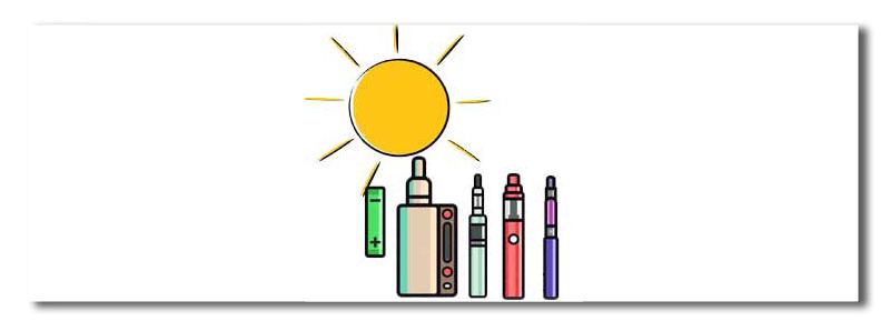 soleil-chaleur-cigarette-électronique